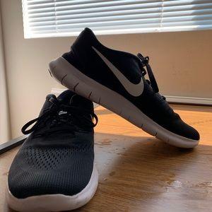 Nike Men's Free RN Running Shoe -Black/White
